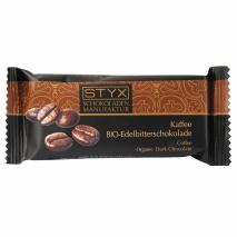 BIO-Edelbitterschokolade gefüllt mit 70% Kaffee-Ganache 70 g