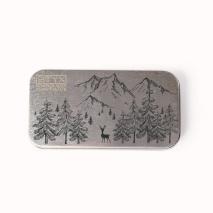 Metalletui für 70g Schokolade WINTERLANDSCHAFT
